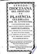 Synodo diocesana del Obispado de Plasencia