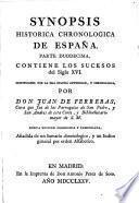 Synopsis historia chronologica de Espana