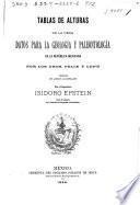 Tablas de alturas de la obra Datos para la geología y paleontología de la República Mexicana