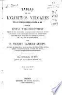 Tablas de los logaritmos vulgares de los números des 1 hasta 20.000 y de las líneas trigonométricas