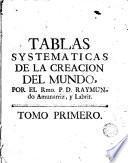 Tablas systemáticas del la creación del mundo