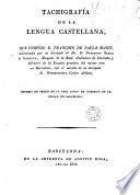 Tachigrafía de la lengua castellana