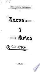 Tacna y Arica en 1793