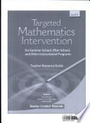 Targeted Math Intervention: Nivel K (Level K) Kit (Spanish Version)