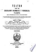 Teatro de la legislacion colombiana y venezolana vigente