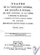 Teatro de la Legislacion Universal de España e Indias..., 25