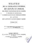 Teatro de la Legislacion Universal de España e Indias..., 7