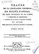 Teatro de la legislación universal de España é Indias