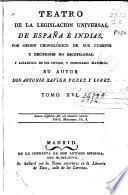 Teatro de la legislación universal de España e Indias, por orden cronológico de sus Cuerpos, y decisiones no recopiladas y alfabético de sus títulos y principales materias