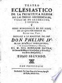 Teatro Eclesiastico De La Primitiva Iglesia De Las Indias Occidentales
