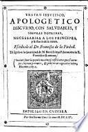 Teatro jesuitico, apolog. discurso, con Saludables y Seguras doctrinas necessarias a los principes y Sennores de la tierra