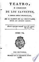Teatro Ó Coleccion De Los Saynetes Y Demas Obras Dramaticas