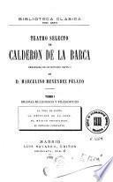 Teatro selecto de Calderón de la Barca