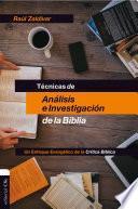 Técnicas de análisis e investigación de la Biblia
