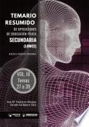 Temario resumido de oposiciones de Educación Física en Secundaria (LOMCE) Volumen III