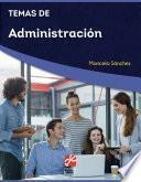 Temas de Administración