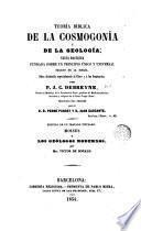 Teoria biblica de la cosmogonia y de la geologia