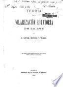 Teoría de la polarización rotatoria de la luz