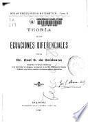 Teoría de las ecuaciones diferenciales