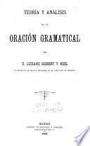 Teoría y análisis de la oración gramatical