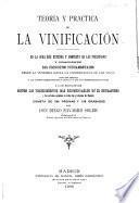 Teoría y práctica de la vinificación