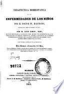Terapeutica homeopatica de las enfermedades de los niños