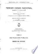 Tercer censo nacional