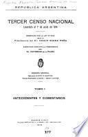 Tercer censo nacional levantado el 10 de junio de 1914 ...