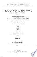 ... Tercer censo nacional levantado el 10 de junio de 1914
