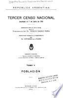 Tercer censo nacional: Población