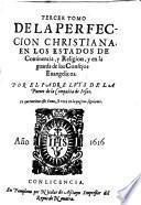 Tercer tomo De la perfeccion christiana