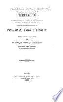 Terremotos experimentados en la isla de Luzón durante los meses de marzo y abril de 1892, especialmente desastrosos en Pangasinán, Unión y Benguet