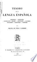 Tesoro de la lengua Española ...