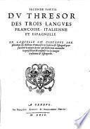 Tesoro de las tres lenguas, Francessa, Italiana y Española