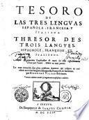 TESORO DE LAS TRES LENGVAS ESPAÑOLA, FRANCESCA Y ITALIANA