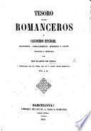 Tesoro de los Romanceros y Cancioneros Españoles ... recogidos y ordenados por E. de Ochoa