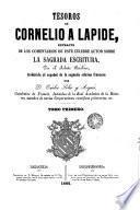 Tesoros de Cornelio a Lapide, 1