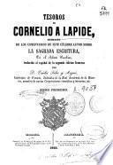 Tesoros de Cornelio á Lápide