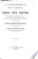 Texto y comentarios al código civil español