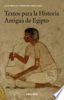 Textos para la Historia Antigua de Egipto