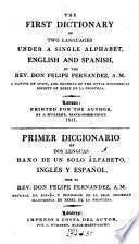 The First Dictionary of Two Languages Under a Single Alphabet, English and Spanish