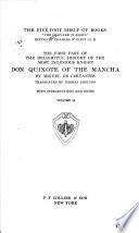 The First Part of the Delightful History of the Most Ingenious Knight, Don Quixote of the Mancha