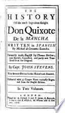 The History of the Most Ingenious Knight Don Quixote de la Mancha,1