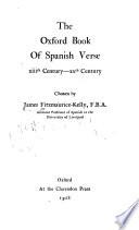 The Oxford book of Spanish verse