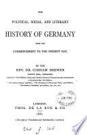 The political, social, and literary history of Germany