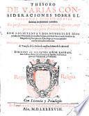 Thesoro De Varias Consideraciones Sobre El Psalmo De Misericordias domini in eternum cantabo ...