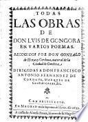 Todas las obras en varios poemas, recogidos por Gonzalo de Hozes y Cordova