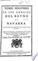 Tomo segundo de los Annales del Reyno de Navarra