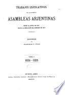 Trabajos lejislativos de las primeras asambleas arjentinas
