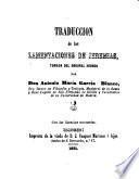 Traducción de las Lamentaciones de Jeremías